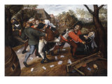 Gamblers Quarrelling Prints by Pieter Bruegel the Younger