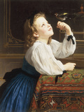 L&#39;Oiseau Cheri, 1867 Giclee Print by William Adolphe Bouguereau