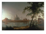 The Taj Mahal at Arga taken from across the River Jumna, c.1798 Print by Thoma Daniell