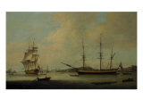 The US Ship 'Granville' off Deptford, 1799 Giclee Print by Thomas Luny