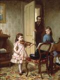 A Rehearsal on the Sly, 1875 Giclée-Druck von Ernest Gustave Girardot