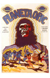 Planet of the Apes, Czchecoslovakian Movie Poster, 1968 Print