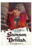 Samson & Delilah, German Movie Poster, 1949 Print
