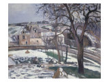Effet de Neige a L'Hermitage, Pontoise, 1875 Giclee Print by Camille Pissarro