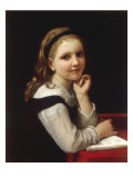 Jeune Ecoliere, 1868 Prints by William Adolphe Bouguereau