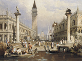The Entrance to St Mark's Square, Venice Prints by Samuel Prout