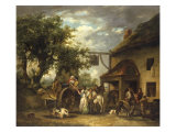 In Front of the Bell Inn, 1793 Giclee Print by George Morland