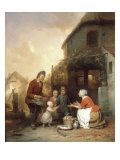 The First Steps, 1841 Giclee Print by Ferdinand De Braekeleer