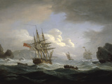 Plymouth Sound, 1829 Giclee Print by Thomas Luny