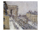 L'Arc de Triomphe, Paris France Art by Gustave Loiseau