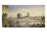 Putney Bridge and Church from near the Old Swan, Fulham Giclee Print by Joseph Murray Ince