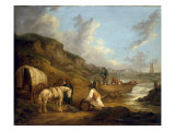 The Smugglers Reproduction procédé giclée par George Morland