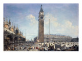 Venice, a View of the Piazza San Marco from the Torre dell'Orologio Giclee Print by Michele Marieschi