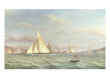 The Yacht 'Aron' Winning the Opening Cruise of the Clyde Yacht Club, 1871 Giclee Print by William Clark