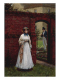 The Time and the Place, 1917 (Lover's Rendezvous) Giclee Print by Edmund Blair Leighton