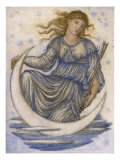 Luna Giclee Print by Edward Coley Burne-Jones