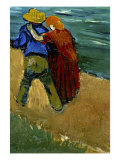 Eglogue En Provence - Un Couple D'Amoureux, 1888 Giclee Print by Vincent van Gogh