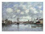 Dunkerque, Le Bassin des Hollandais, 1889 Giclee Print by Eugène Boudin