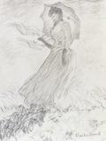 Femme a L'Ombrelle, 1890 Posters by Claude Monet