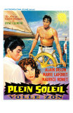 Purple Noon, Belgian Movie Poster, 1964 Kunstdrucke