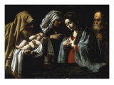 The Presentation in the Temple Giclée-tryk af Caravaggio