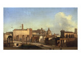 A View of the Forum, Rome, 1830 Reproduction procédé giclée par Ippolito Caffi