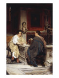 A Chat' or 'The Disclosure' Posters by Sir Lawrence Alma-Tadema