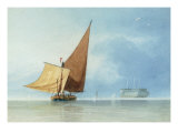 Shipping at the Entrance of the Meadway, Kent Giclee Print by Miles Edmund Cotman