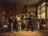 The Wine Merchant Giclee Print by Leon Marie Dansaert