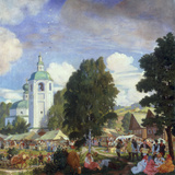 The Village Fair, 1920 Giclee Print by B.M. Kustodiev