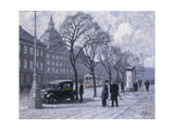 A View of the Magasin du Nord from the Holmens Kanal Giclee Print by Paul Gustav Fischer