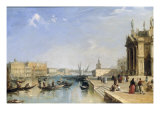 View of the Riva Degli Schiavoni and Bacino di San Marco from Steps of St. Maria della Salute Giclee Print by Edward Pritchett
