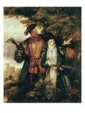 Henry VIII and Anne Boleyn Deer Shooting in Windsor Forest Prints by William Powell Frith