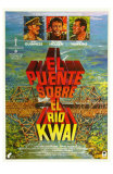 Bridge on the River Kwai, Spanish Movie Poster, 1958 Print