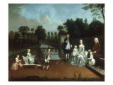 Sir Thomas Cave, BT. and his Family in the Grounds of Stanford Hall, Leicestershire, 1749 Giclee Print by Arthur Devis
