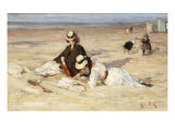On a Beach Giclee Print by Maurice Blieck
