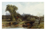 View of Windsor Castle Giclee Print by Thomas Creswick