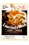 I Married a Witch, UK Movie Poster, 1942 Poster