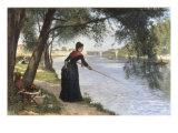 La Pecheuse, 1884 Giclee Print by Joseph Caraud