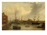 The Old Harbour and Garrison Side, Kingston-upon-Hull Giclee Print by John Of Hull Ward