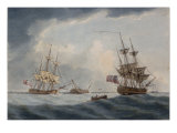 The Loss of HMS Undaunted on Themorant Keys, Jamaica, 1796 Giclee Print by William Anderson