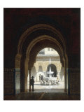 Figures in the Courtyard of a Moorish Building Prints by Heinrich Hansen