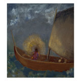 La Barque Mystique, c.1897 Prints by Odilon Redon