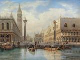 La Piazza San Marco, Venice, 1864 Giclée-tryk af Salomon Corrodi