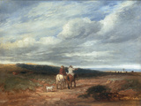 The Cross Roads Giclee Print by David Cox