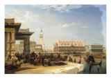 The Doge's Palace and the Piazzetta from the Dogana Giclee Print by Edward Pritchett