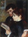 Couple lisant, 1877 Prints by Pierre-Auguste Renoir