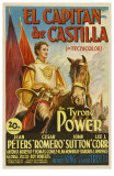 Captain From Castile, Spanish Movie Poster, 1947 Posters