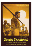 Seven Samurai, Italian Movie Poster, 1954 Print