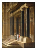 Elegant Company on the Steps of a Classical Building, 1656 Prints by Dirck Van Delen